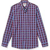 Goodthreads Men's Slim-Fit Long-Sleeve Gingham Plaid Poplin Shirt