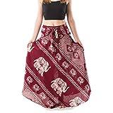 Banjamath®®@ Women's Long Bohemian Style Gypsy Boho Hippie Skirt