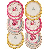 Talking Tables Tea Party Vintage Floral Paper Plates | Truly Scrumptious | Also Great for Birthday Party, Baby Shower, Weddin