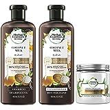 Herbal Essences Shampoo, Conditioner & Hair Mask Kit, Hydrating Coconut Milk, Natural Source Ingredients, Color Safe, 13.5 Oz