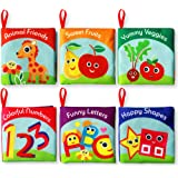 Cloth Books for Babies (Set of 6) - Premium Quality Soft Books for Toddlers. Touch and Feel Crinkle Paper. Safe and Fully Cer