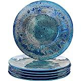 """Certified International 23930SET6 Radiance Teal Melamine 10.5"""" Dinner Plate, Set of 6"""