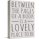 Barnyard Designs Between The Pages of A Book is A Lovely Place to Be Box Wall Art Sign Primitive Country Home Decor Sign with