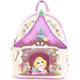 Loungefly Disney Tangled Tower Scene Womens Double Strap Shoulder Bag Purse