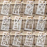 Maxdot Drawing Loose Leaf Stencils Scale Template Sets Journal Diary Notebook 8-Ring Paper Inserts for Painting Card Craft Pr