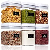 Airtight Food Storage Containers, Vtopmart 6 Pieces Medium BPA Free Plastic Containers with Easy Lock Lids, for Kitchen Pantr