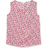 NINE WEST Women's Sleeveless Printed Blouse with Ruched Neckline