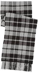 Begg Buffalo Check Scarf 11-45-0297-145: Grey