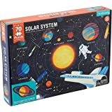 """Mudpuppy Solar System Puzzle, 70 Pieces, 23""""x16.5"""", Great for Kids Ages 5-9, Learn the Solar System with Planet-Shaped Puzzle"""