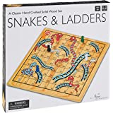 New Entertainment 1245 Wooden Snakes & Ladders Game
