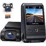 【2021進化版】 APEMAN ドライブレコーダー 前後カメラ 32Gカード付き 200万画素 IPSパネル 1080PフルHD 2カメラ 170度広角 GPS機能搭載 小型2インチ Gセンサー搭載/WDR/夜間対応/常時録画/駐車監視/動き検知/
