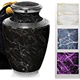 Marble Elegance Cremation Urns for Human Ashes Adult for Funeral, Burial, Columbarium or Home, Cremation Urns for Human Ashes