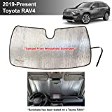 YelloPro Auto Custom Fit Car Front Windshield Reflective Sunshade Protector for 2019 2020 Toyota RAV4 LE XLE Premium Limited