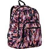 """Kenneth Cole REACTION Printed Dual Compartment 16"""" Laptop & Tablet Backpack for School, Travel, Work"""