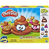 Play-Doh - Poop Troop Playset - 50+ Poo Combinations - 12 Tubs of tubs of Non-Toxic modelling dough and Acc - Kids Sensory To