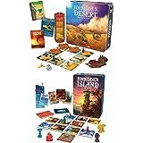 Gamewright Forbidden Desert Board Game Bundle with Forbidden Island (2 items)