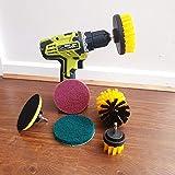 6 Pcs Drill Brush Set   Grout Cleaning Brush   Carpet Cleaning Brush   Tyre Cleaning Brush   Alloy Wheel Cleaning Brush   Car