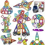 Jasonwell 133pcs マグネットブロック 磁気おもちゃ マグネットおもちゃ 磁石ブロック 子供 知育玩具 幼児 に 人気 の おもちゃ 女の子 おもちゃ 日本語バッケージ 磁石玩具 立体パズル ゲーム モデルDIY 積み木 ブロック おも