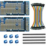 ElectroCookie Arduino Mega Prototype Shield Board Kit, Stackable DIY Expansion Proto PCB for Arduino Mega 2560 R3 (2 Pack)