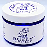 Bully Wipes - Bulldog Wrinkle Wipes Specifically for Bulldog Breeds All Natural Organic Formula Refreshing Botanical Scent -