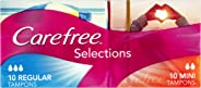 Carefree Tampons Selections Regular 20