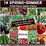 Mixed Spring Summer 750 Heirloom Seeds Vegetable HERB Garden 14 pks Bulk Value
