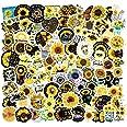 GorgeousZen Yellow Sunflower Stickers Vinyl 100pcs You are My Sunshine Sticker for Children Waterproof Laptop Skateboard Moto
