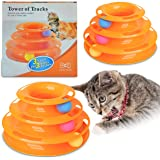 Ozoosh Pets Cat Tracks Cat Toy - Fun Levels of Interactive Play for Cats - Circle Track with Moving Balls Satisfies Kitty's H