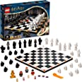 LEGO 76392 Harry Potter Hogwarts Wizard's Chess Set & Board Game Toy, with 20th Anniversary Collectible Golden Minifigure