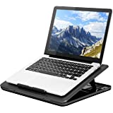 LapGear Commuter Laptop Stand - Padded Lap Desk with 20 Adjustable Angles - Black - Fits Up to 15.6 Inch Laptops and Most Tab