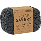 S&T INC. BPA Free Soap Saver for Kitchen and Bathroom, 4 Pack, Dark Grey