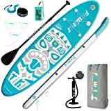 FunWater Inflatable Stand Up Paddle Board 10'6''x33''x6'' Ultra-Light (17.6lbs) Paddleboard with ISUP Accessories,Three Fins,