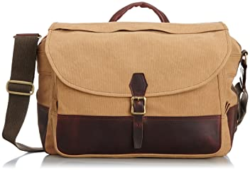 Aging Canvas Canvas Flap Shoulder: Tan