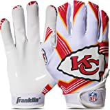 Franklin Sports NFL Kansas City Chiefs Youth Football Receiver Gloves - X-Small/Small