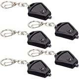 Finware 5 Pack Mini LED Keychain Flashlight Ultra Bright Key Ring Light Torch Batteries Included