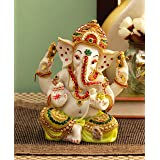 Tied Ribbons Ganesha Statue Ganesh Idol Figurine for Home Décor Temple Table Decoration House Warming Gifting Home Décor (6 X