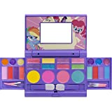 Townley Girl My Little Pony Hasbro Cosmetic Compact Set with Mirror 22 Lip glosses, 4 Body Shines, 6 Brushes Colorful Portabl