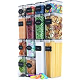 Chef's Path Airtight Food Storage Container Set - 14 PC - Kitchen & Pantry Organization - BPA-Free - Plastic Canisters with D