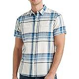 Lucky Brand Men's Short Sleeve Button Up Two Pocket Jaybird Workwear Shirt