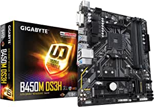 GIGABYTE B450M DS3H Micro-ATX マザーボード [AMD B450チップセット搭載] MB4784