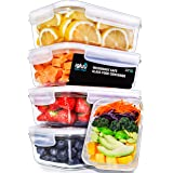Igluu Glass Meal Prep Containers with Transparent, Steam Vent Lids - Airtight Portion Control Food Storage - BPA Free - Micro