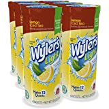 Wyler's Light Canister Drink Mix - Lemon Iced Tea Water Powder Enhancer Canister (6 Canisters That Make 12 Quarts Each)