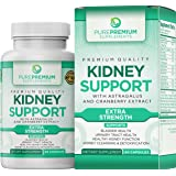 Premium Kidney Support Supplement by PurePremium (Kidney Cleanse Supplement) Potent Herbal Ingredients for Urinary Tract and