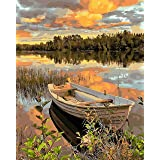 """COLORWORK DIY Paint by Numbers, Canvas Oil Painting Kit for Adults, 16"""" W x 20"""" L Drawing Paintwork with Paintbrushes, Acryli"""
