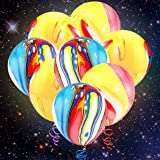 LED Light up Balloons Neo LOONS 40 Pcs Colorful LED Balloon Lights Agate Marble Latex Balloons- Great for Party, Birthdays, W