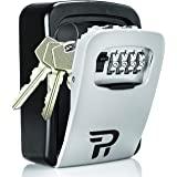Key Lock Box for Outside - Rudy Run Wall Mount Combination Lockbox for House Keys - Key Hiders to Hide a Key Outside - Waterp