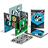 Giantsuper Construct-O-Cards: Tummy Time Interlocking Flash Cards - High-Contrast Art for Baby's Developing Eyes