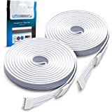 Litcessory Extension Cable for Philips Hue Lightstrip Plus (3m, 2 Pack, White - Standard 6-PIN V3)