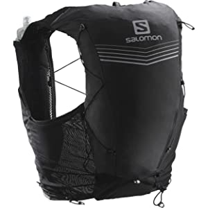 Salomon Advanced Skin 12セット ユニ トレイルランニングベストバックパック ブラック