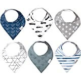 """Baby Bandana Drool Bibs for Drooling and Teething 6 Pack Gift Set for Boys""""Rider"""" by Copper Pearl"""